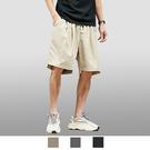 【男人幫大尺碼】K1615-夏季潮流嘻哈五分工裝褲-卡其色