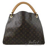 茱麗葉精品 二手精品【9.2成新】Louis Vuitton LV M40249 經典花紋手工單柄肩背包