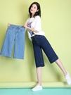 闊腿褲 七分牛仔褲女夏薄款新款韓版馬褲寬鬆高腰顯瘦九分闊腿直筒中褲子 城市科技