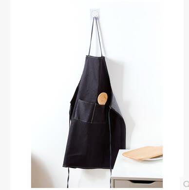 韓版簡約牛仔布廚房無袖成人圍裙防油污男女士餐廳圍裙