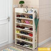 簡約現代鞋架多層大容量實木質收納架家用小鞋櫃簡易gogo購