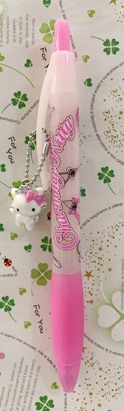 【震撼精品百貨】寵物貓_Charmmy Kitty~三麗鷗 寵物貓原子筆/中性筆-玫瑰#01759