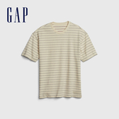 Gap男裝時尚紮染風格圓領短袖T恤573398-漸變色格紋