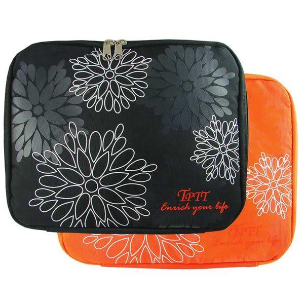 時尚花漾可提式10吋小筆電NB包-黑/橘-降價優惠
