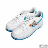 NIKE 女/休閒鞋 AIR FORCE 1 (GS) 穿搭 皮革 白藍 怪物奇兵-DM3353100