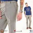 【NST Jeans】咖啡直條紋 斜口袋男彈性休閒褲-中腰直筒 398(66679) 台灣製