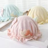 嬰兒帽嬰兒帽子秋冬季嬰幼兒女寶寶公主0-3-6-12個月純棉新生女童漁夫帽