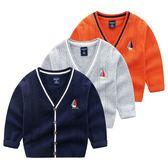 氣質紳士帆船刺繡針織毛衣線衫 長袖上衣 開衫外套 橘魔法 Baby magic 現貨 兒童 童裝 男童 中童