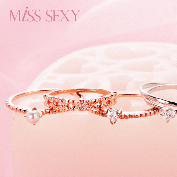 【MISS SEXY】MG147  / 簡約優雅系列銀飾戒指-典雅