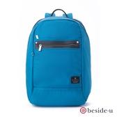 beside u BNUM 商務型大空間防潑水13吋筆電行李箱拉桿後背包 – 藍色 原廠公司貨