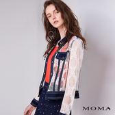 MOMA 蕾絲拼接牛仔夾克外套