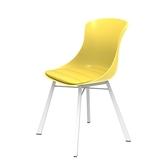 組 - 特力屋萊特 塑鋼椅 金屬一體成型腳架/黃椅背/黃座墊