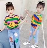 女童夏季短袖兒童純棉T恤中大童洋氣純棉上衣網紅時髦韓版打底衫
