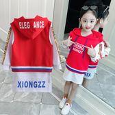 童裝兩件套女童衛衣套裝2018秋裝新款韓版時尚兒童女孩洋氣時髦潮