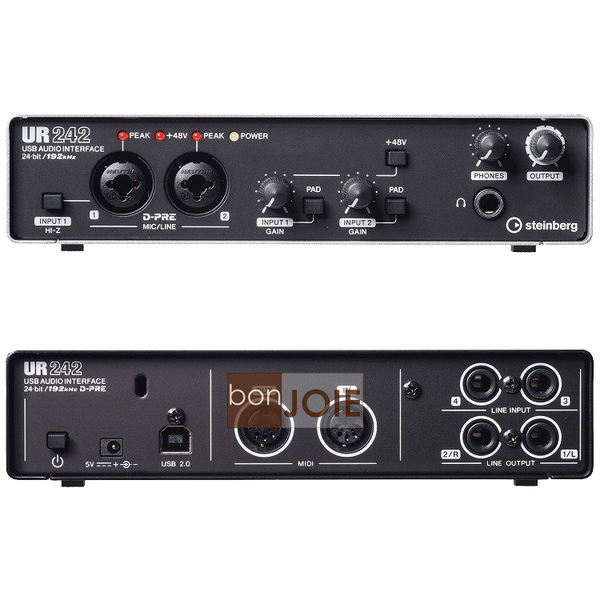 ::bonJOIE:: 美國進口 Steinberg UR242 4X2 USB 錄音介面 4-Channel USB Interface 錄音盒 錄音卡 Audio/MIDI YAMAHA
