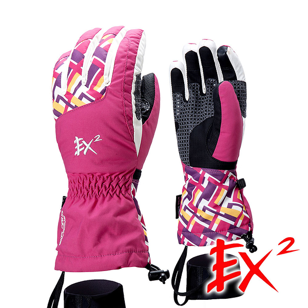 EX2 中性 滑雪觸控保暖手套『玫紅』 866403 防風手套│保暖手套│防滑手套│刷毛手套│觸控手套