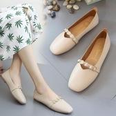 豆豆鞋 牛筋底平底鞋單鞋女鞋子百搭豆豆鞋季女鞋工作鞋 快速出貨