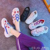 運動鞋女韓版ulzzang學生原宿風百搭鞋子透氣老爹鞋  深藏blue