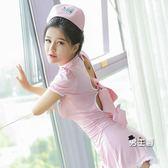 (交換禮物)護士服性感護士制服激情套裝小胸情趣內衣服透視sm騷用品三點式開檔緊身
