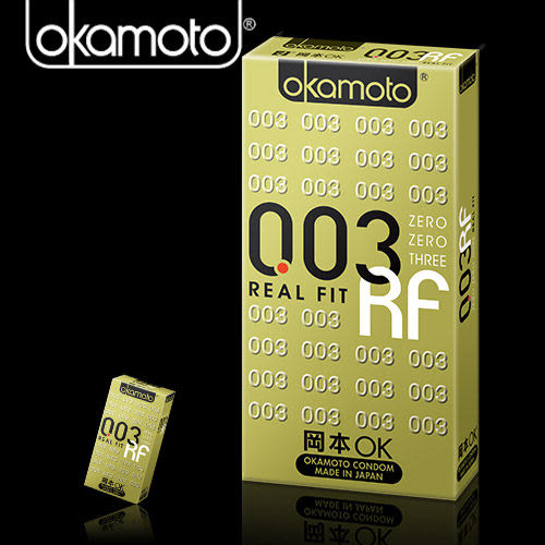 保險套避孕套情趣用品 岡本003-RF極薄貼身 衛生套6入 +潤滑液1包 情趣用品