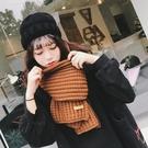 圍巾 圍巾女冬季正韓百搭長款學生針織毛線圍脖保暖純色日系小清新披肩交換禮物