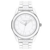 COACH 優雅LOGO陶瓷時尚腕錶38mm(14503771)