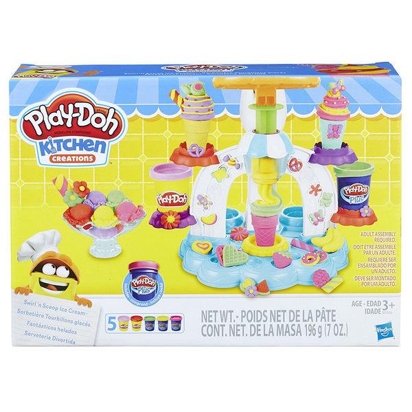 《 Play - Doh 培樂多黏土 》聖代冰淇淋遊戲組╭★ JOYBUS玩具百貨