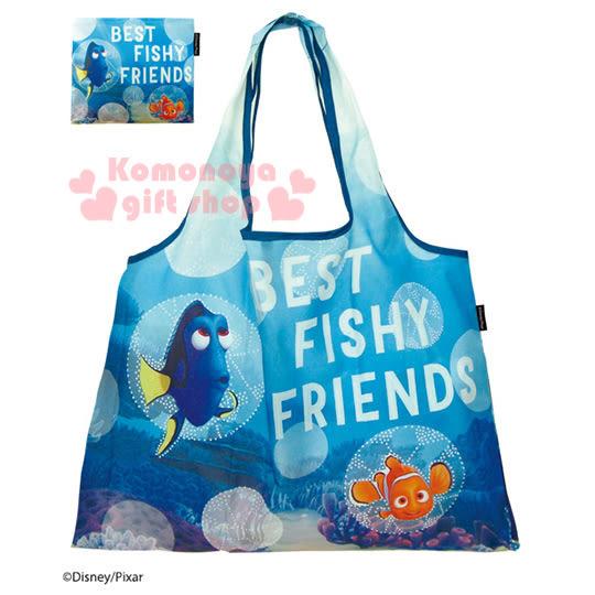 〔小禮堂〕海底總動員2 多莉 環保購物袋《藍.nemo.海底場景》可摺疊收納4543479-12812