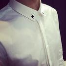 韓國  閃電 刺繡 高質感襯衫
