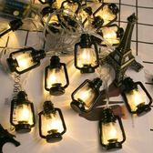 聖誕節 油燈復古老式圣誕led彩燈懷舊網紅房間少女心布置ins森系 俏女孩
