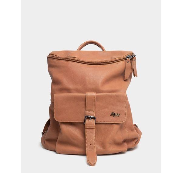 真皮包包(後背包)-R&BB手工牛皮製*個性歐美簡約可手提隨性雙向拉鍊實用背包/旅行後背包-棕色