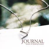 925純銀 質樸雲石 鎖骨鍊 短項鍊 _質物日誌Journal