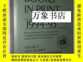 二手書博民逛書店Books罕見in Print 1994-95 vol 9 (l