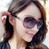 售完即止-墨鏡女潮明星款太陽鏡女新款防紫外線風圓臉個性眼鏡3-13庫存清出S