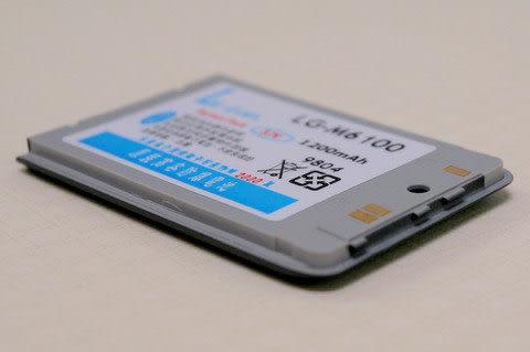 CALLS/其他廠牌 防爆高容量 手機電池 1100mah LG 鈦金屬灰 M6100
