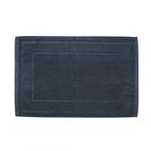 HOLA 葡萄牙純棉緹花毛巾踏墊40x60cm 框紋深藍