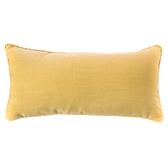 HOLA 素色拼色滾邊抱枕 30x60cm 芥黃米