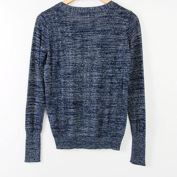 【MASTINA】銀蔥點綴薄針織-藍 冬末好康