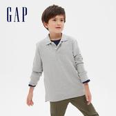 Gap男童簡約風格長袖POLO衫537946-亮麻灰色