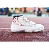 """ISNEAKERS Air Jordan 11 """"Platinum Tint"""" 奶油白 378037-016"""