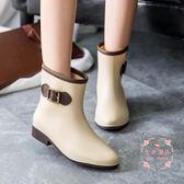 雨鞋 女中筒時雨靴防滑水鞋短筒膠鞋成人水靴套鞋
