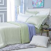 (組)雅緻天絲素色特大床被組輕碧