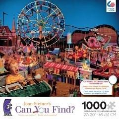 【KANGA GAMES】拼圖 瓊·斯坦納 尋找系列 - 遊樂園 Joan Steiner's CAN YOU FIND? - Amusement Park 1000片