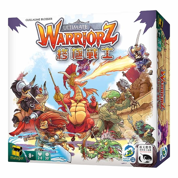 『高雄龐奇桌遊』 終極戰士 Ultimate Warriorz 繁體中文版 正版桌上遊戲專賣店