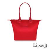 法國時尚Lipault肩背手提兩用托特包S(寶石紅)