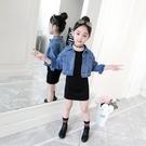 女童秋裝套裝2021新款中大童洋氣春秋牛仔外套兒童時髦兩件套裙潮 3C數位百貨
