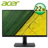 【Acer 宏碁】ET221Q 22型 IPS窄邊框電腦螢幕【全品牌送外出野餐杯】