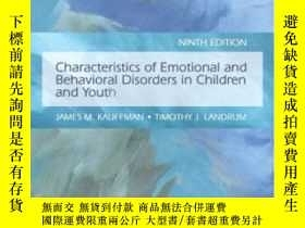 二手書博民逛書店Characteristics罕見Of Emotional And Behavioral Disorders Of