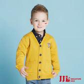 JJLKIDS 男童 歐洲紳士條紋針織外套(芥末黃)