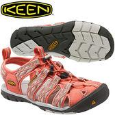 KEEN 1014459 粉橘/印花 女Clearwater CNX專業戶外護趾涼鞋
